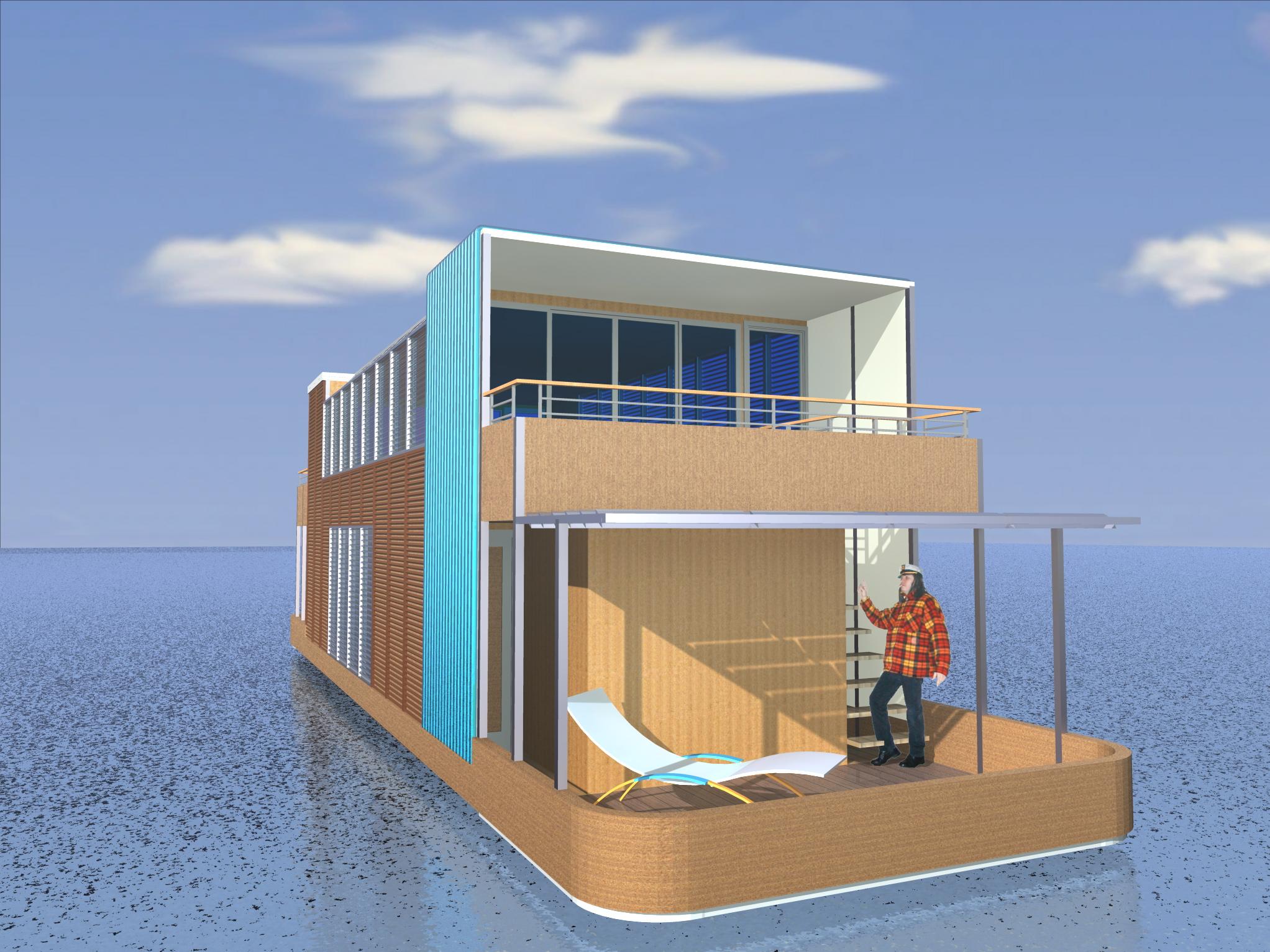 Studi per la costruzione di una casa galleggiante