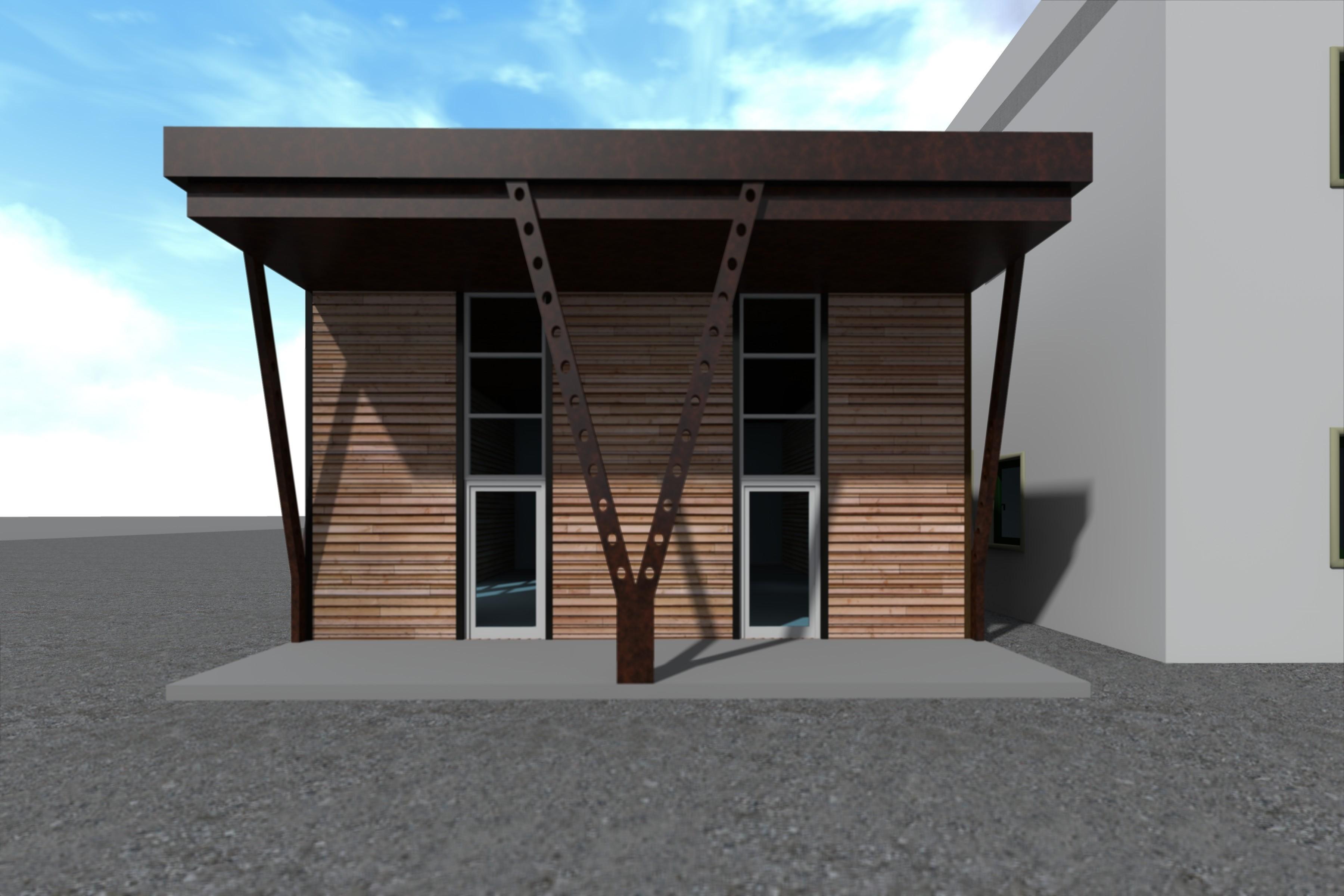 Progetto per l'ampliamento di un capannone esistente da adibire a servizi