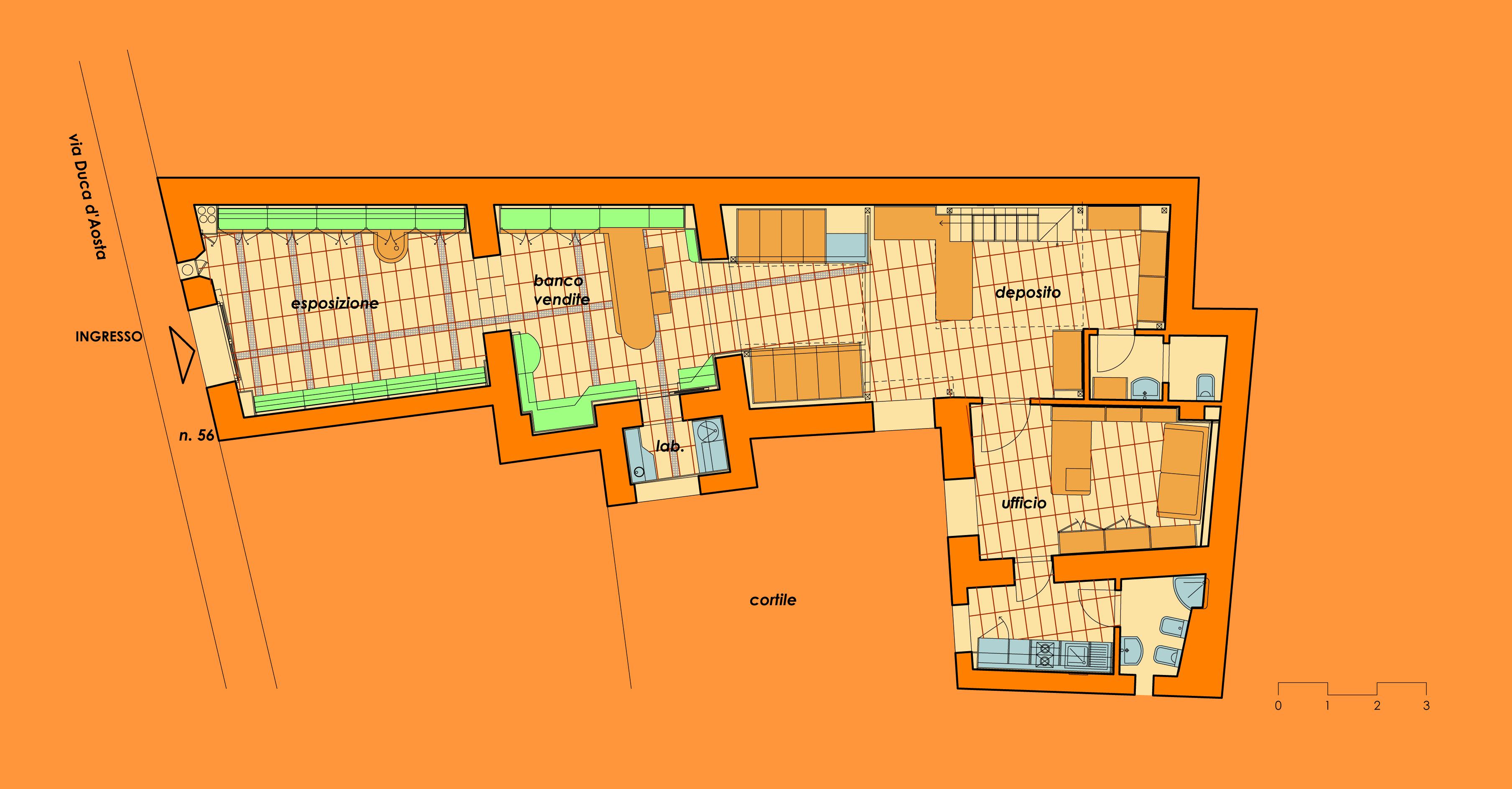Ristrutturazione e rifunzionalizzazione dei locali siti in via Duca D'Aosta 56, per Farmacia del Sol